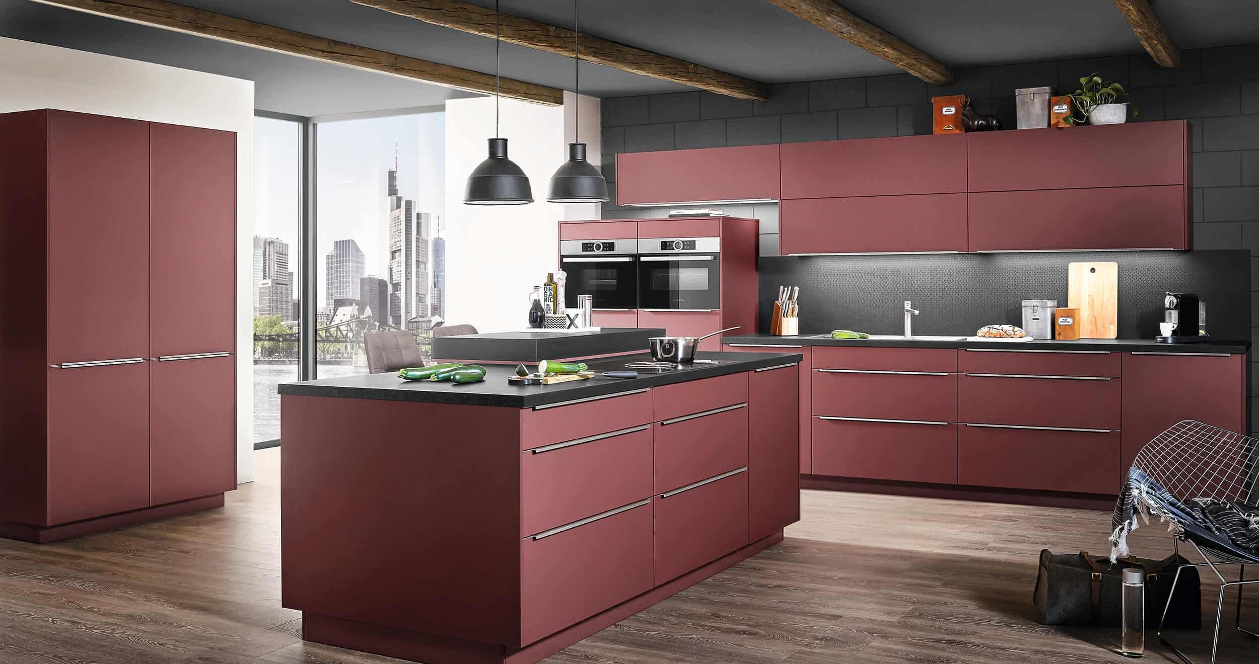 keukeneiland rood, kookeiland rood